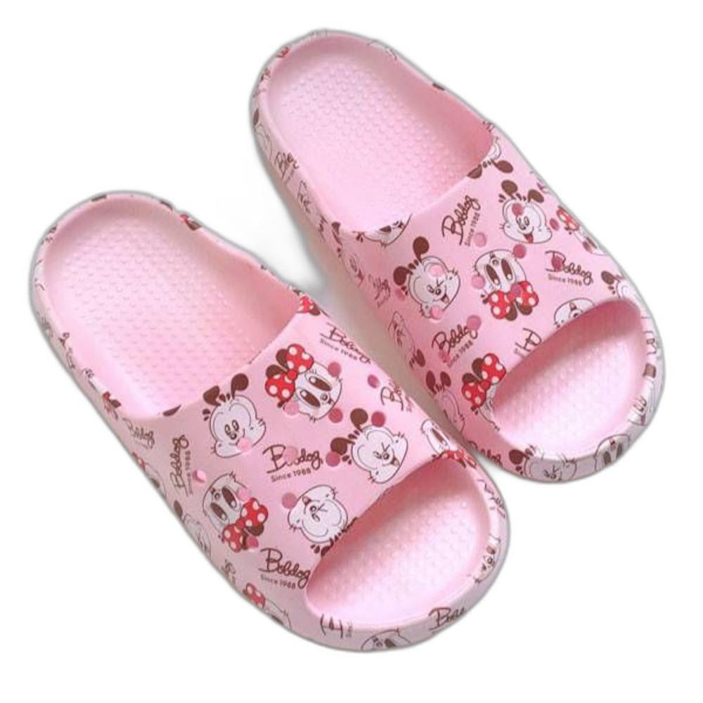 C101-1-巴布豆輕量拖鞋親子款-粉色