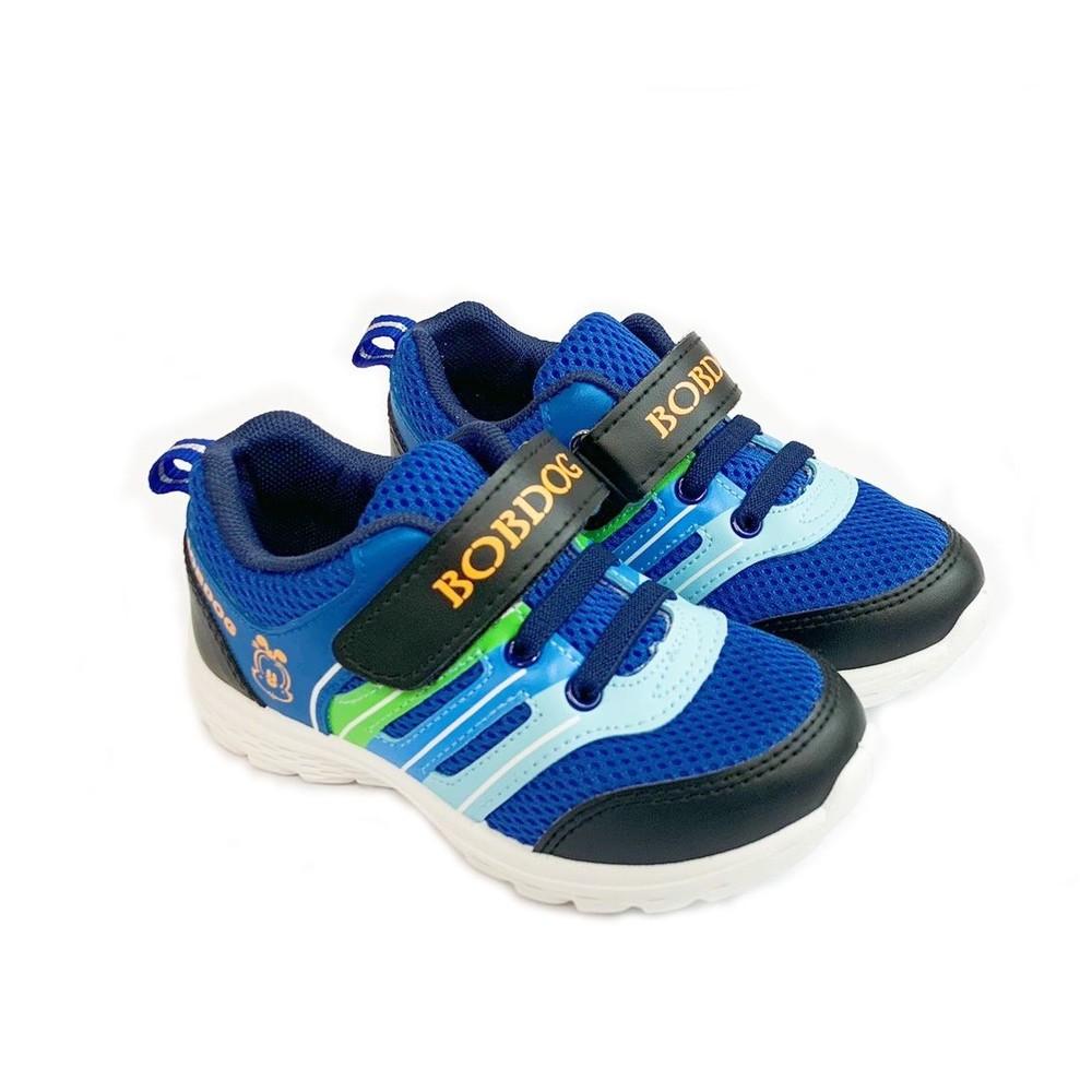 C105-台灣製巴布豆輕量運動鞋-黑藍