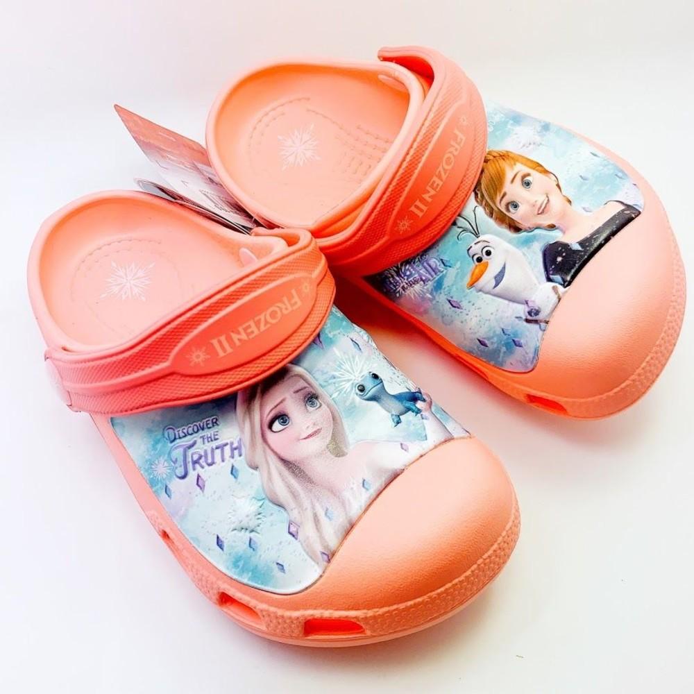 F011 - 【台灣現貨】冰雪奇緣布希鞋-粉橘
