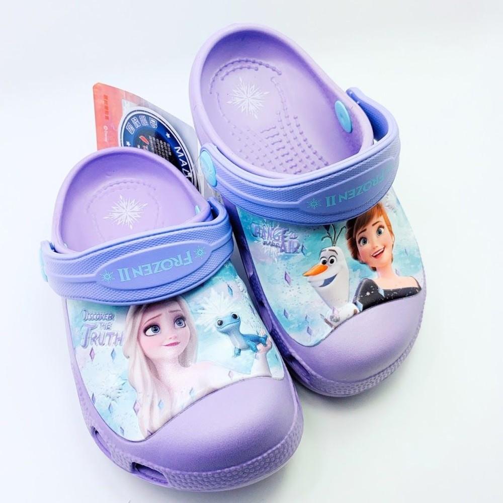 F012-【台灣製現貨】冰雪奇緣布希鞋-紫