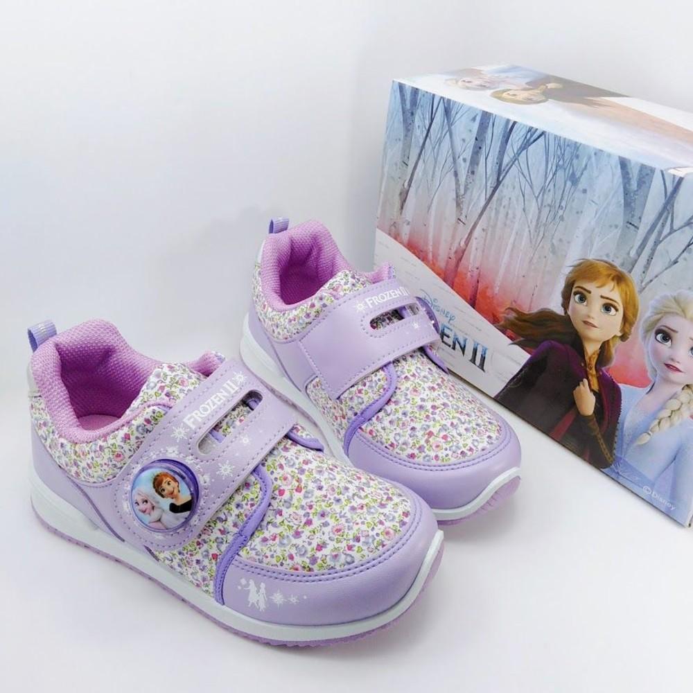 【台灣製現貨】冰雪奇緣花紋運動燈鞋