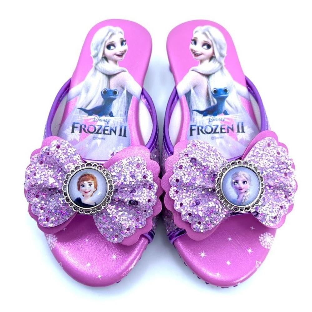 F020-【台灣製現貨】冰雪奇緣亮晶晶跟鞋-紫