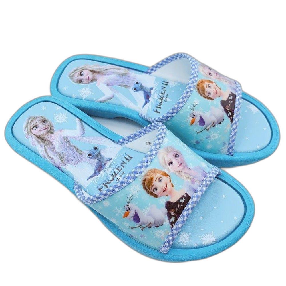 【台灣製現貨】冰雪奇緣拖鞋-水藍