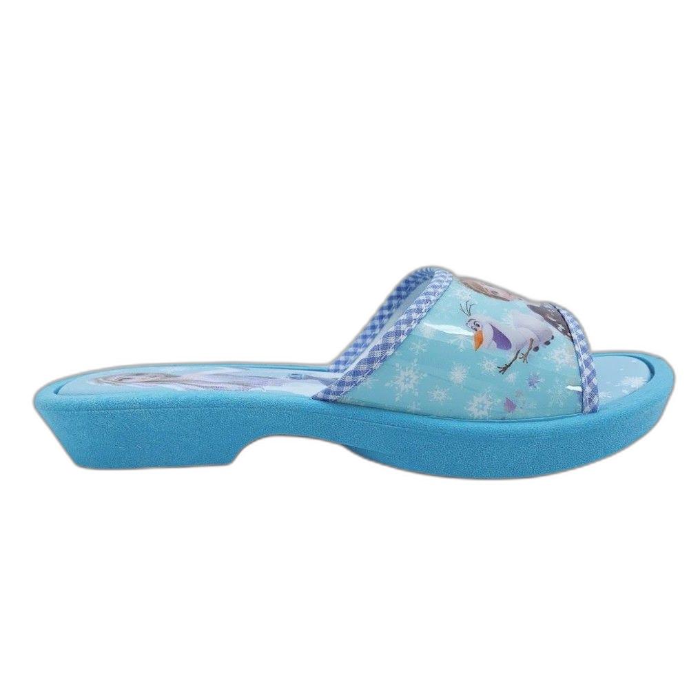 台灣製冰雪奇緣拖鞋-水藍