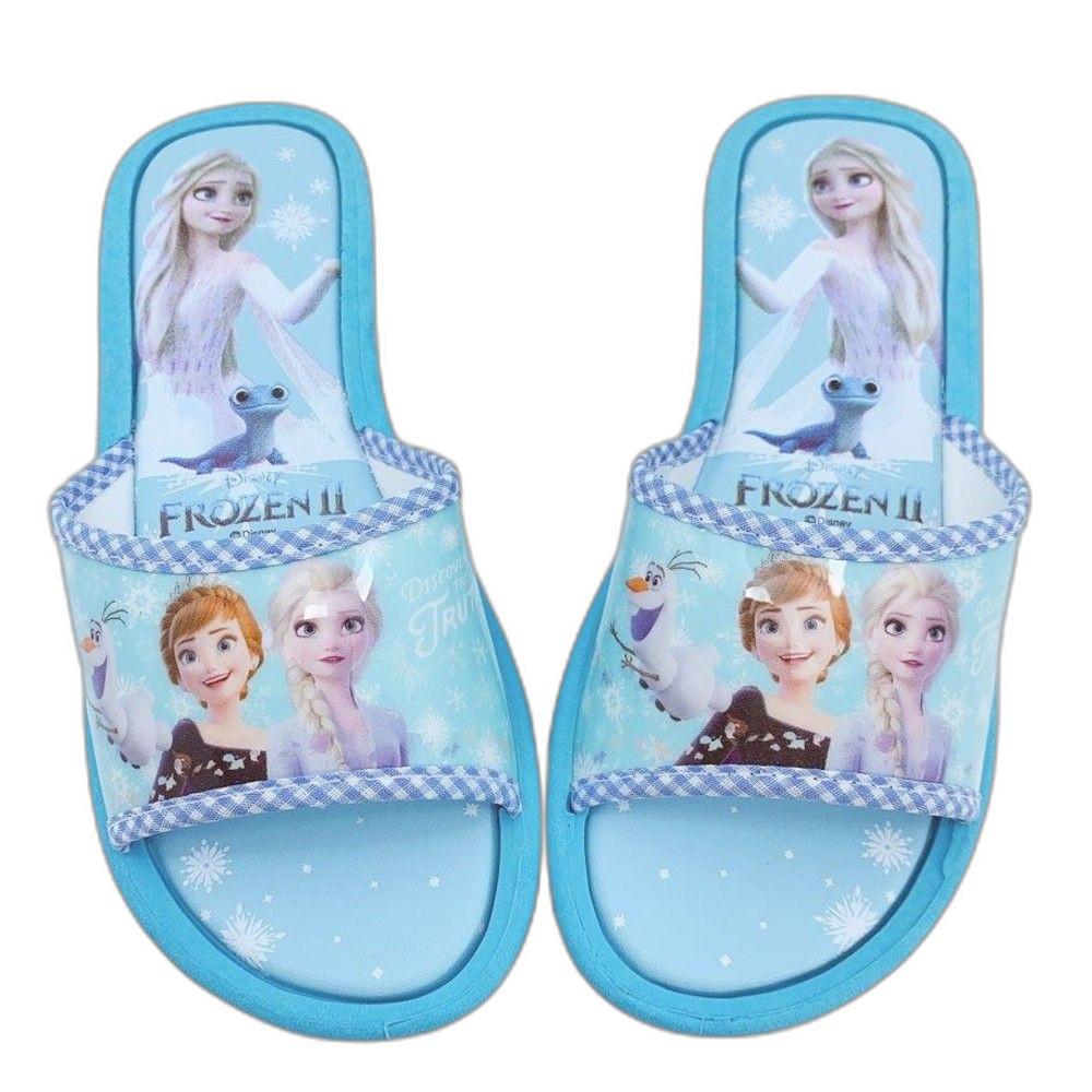 F041-【台灣製現貨】冰雪奇緣拖鞋-水藍