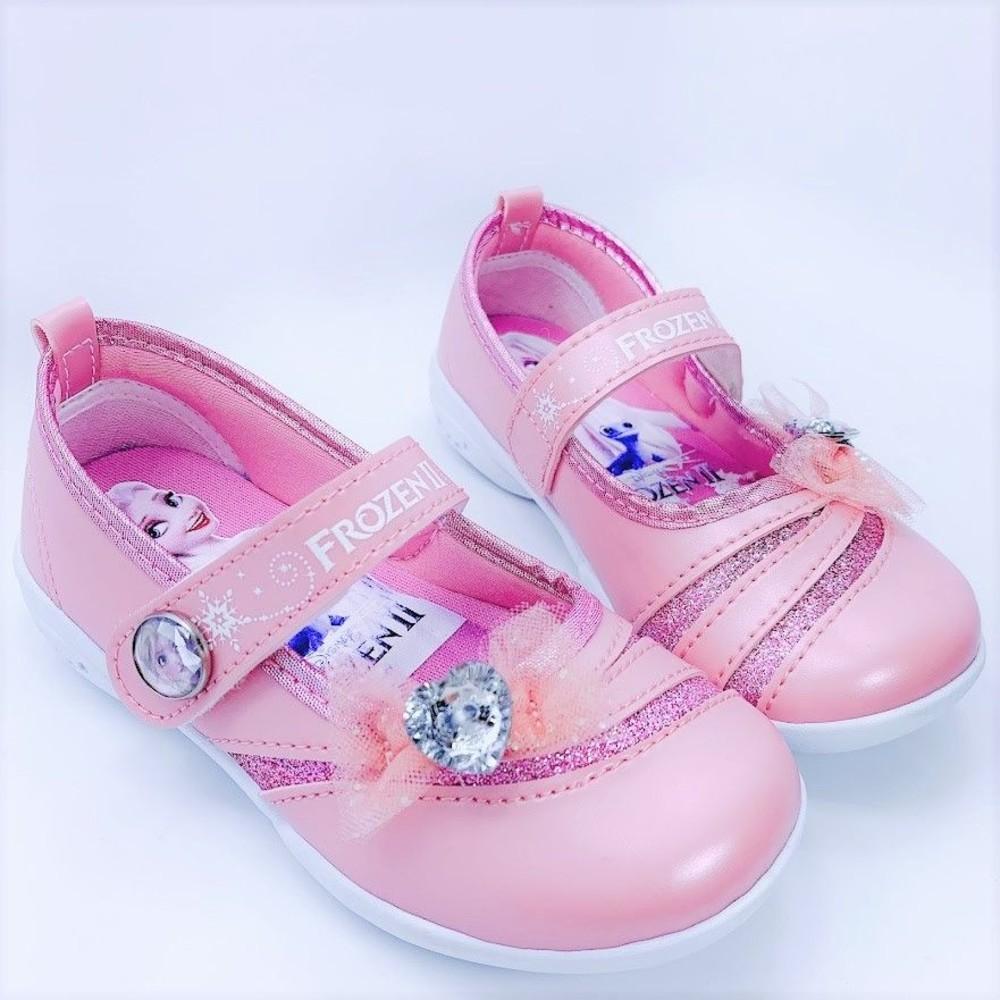 F046-【台灣製現貨】冰雪奇緣2鑽飾公主鞋-粉色
