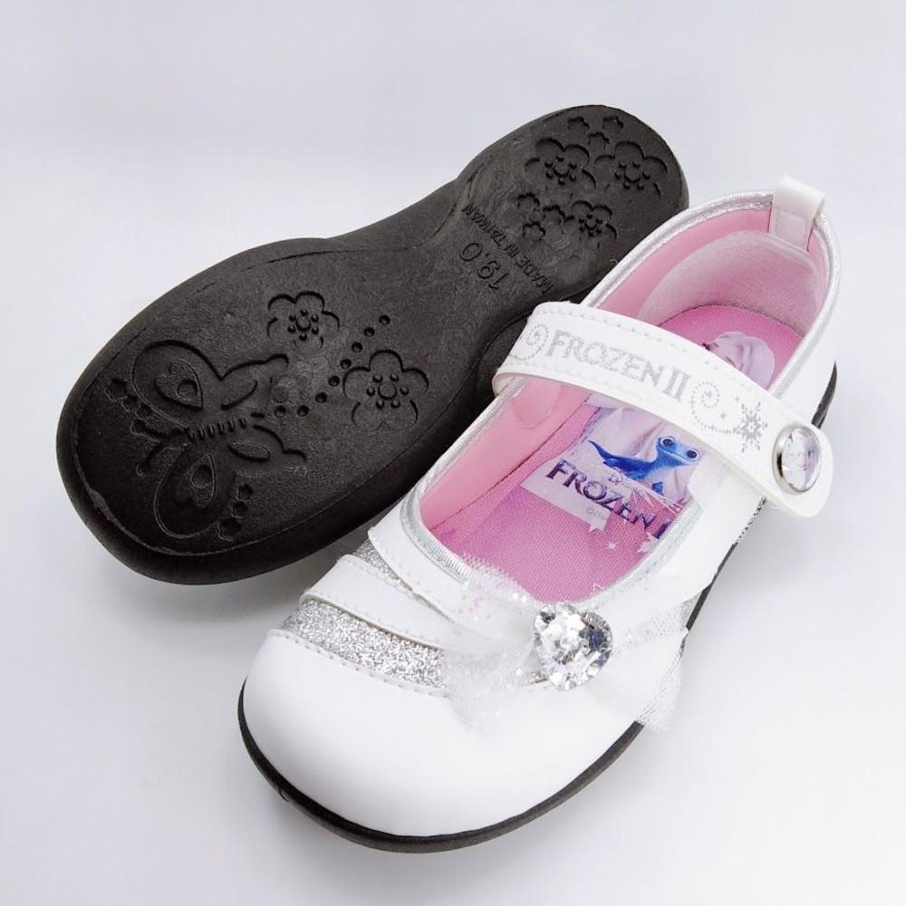 【台灣製現貨】冰雪奇緣鑽飾公主鞋-白色