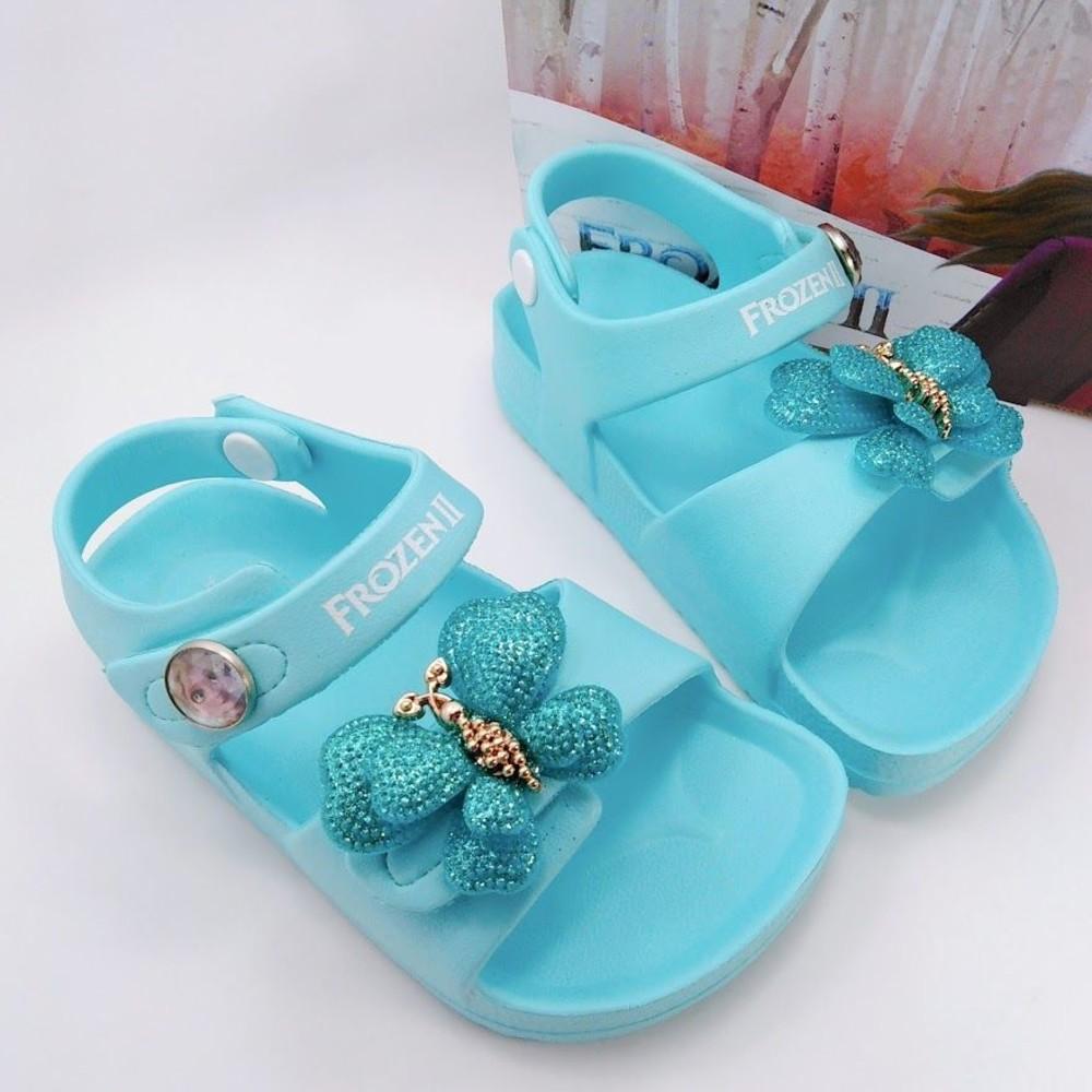 F050-1-台灣製冰雪奇緣2涼鞋-水藍