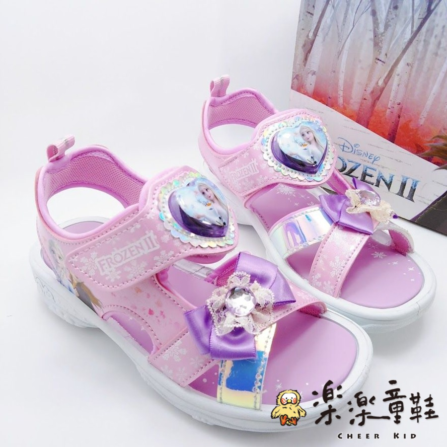F051-台灣製冰雪奇緣2愛心電燈涼鞋