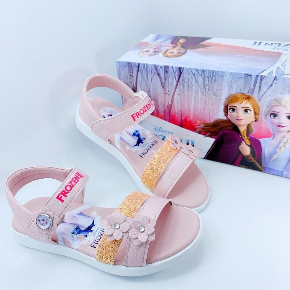 F054-台灣製冰雪奇緣2公主涼鞋-粉色