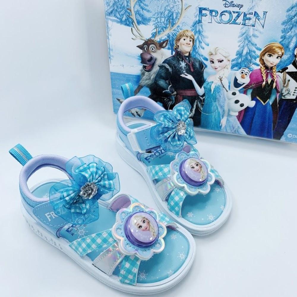 F056-台灣製冰雪奇緣2電燈涼鞋