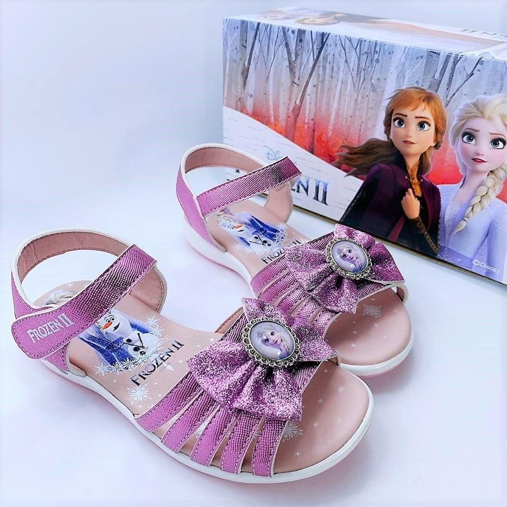 台灣製冰雪奇緣涼鞋-紫色