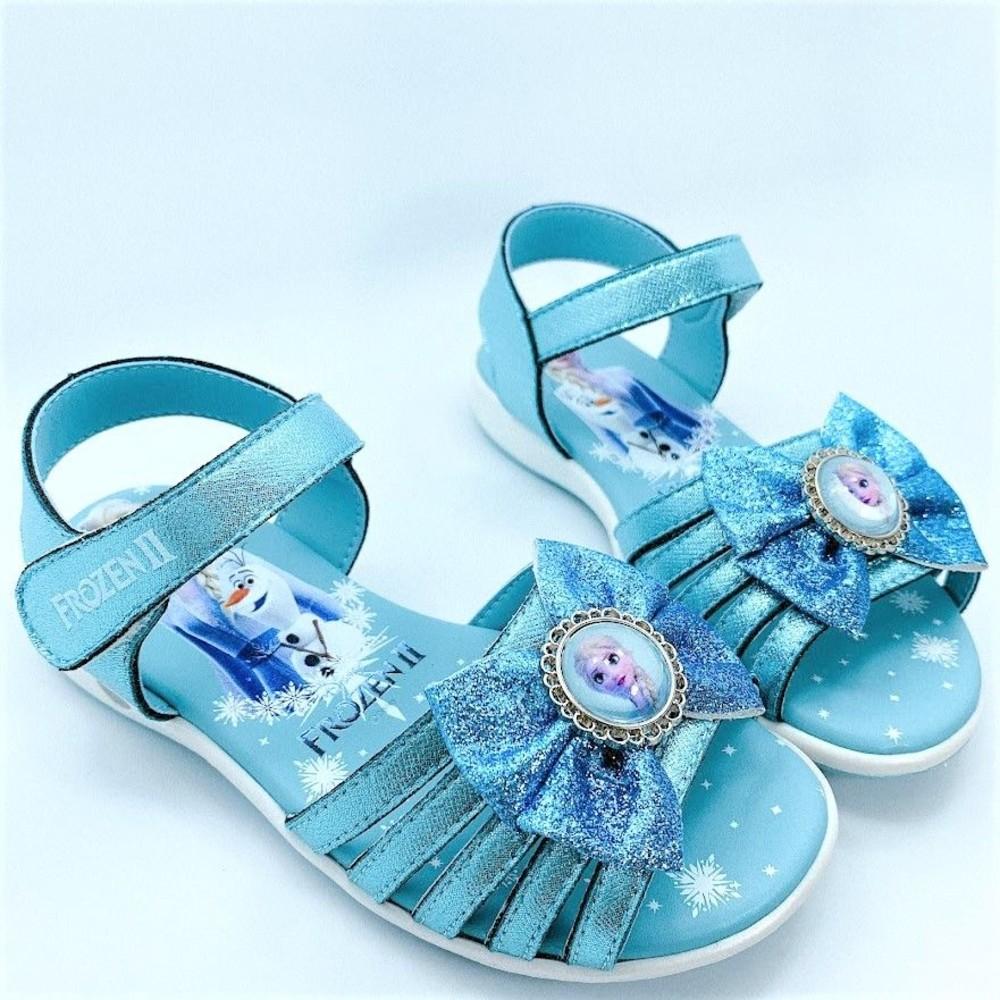 童鞋 台灣製冰雪奇緣涼鞋-藍色