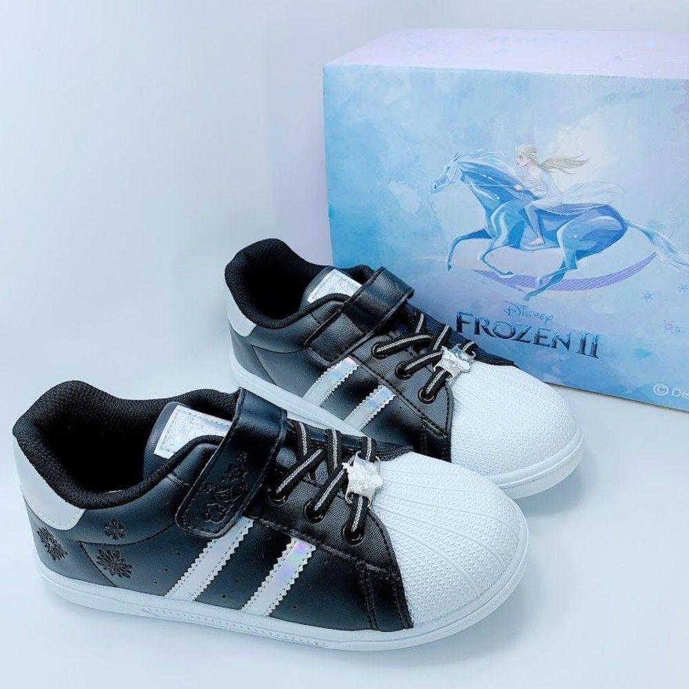 台灣製冰雪奇緣2親子休閒鞋-童款白色