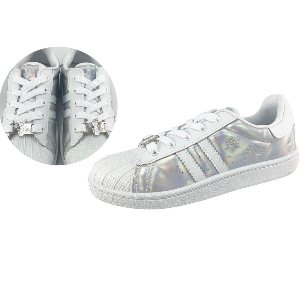 童鞋 台灣製冰雪奇緣2親子休閒鞋-媽媽款白色
