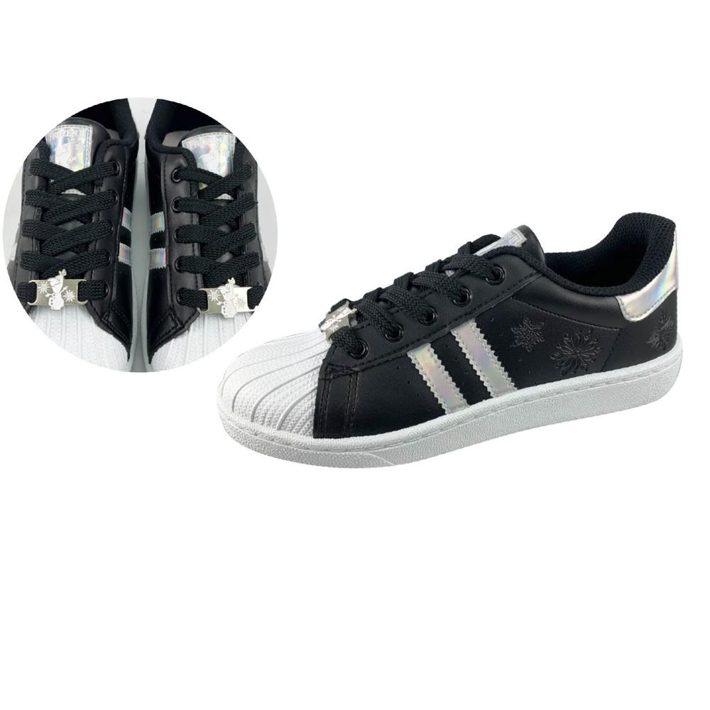童鞋 台灣製冰雪奇緣2親子休閒鞋-媽媽款黑色