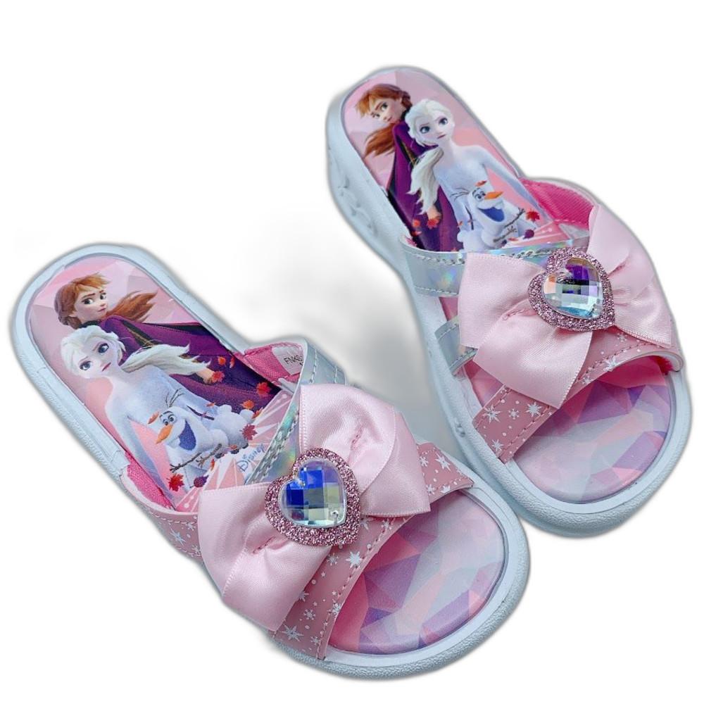 童鞋 台灣製冰雪奇緣拖鞋-粉色