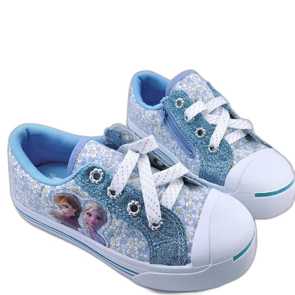 F073-台灣製冰雪奇緣2休閒鞋-湖水綠