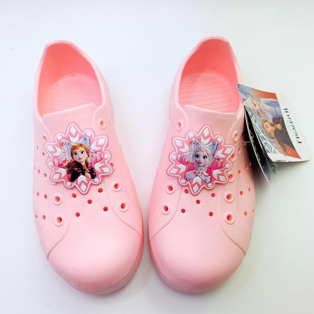 FO009-【台灣製現貨】冰雪奇緣防水洞洞鞋