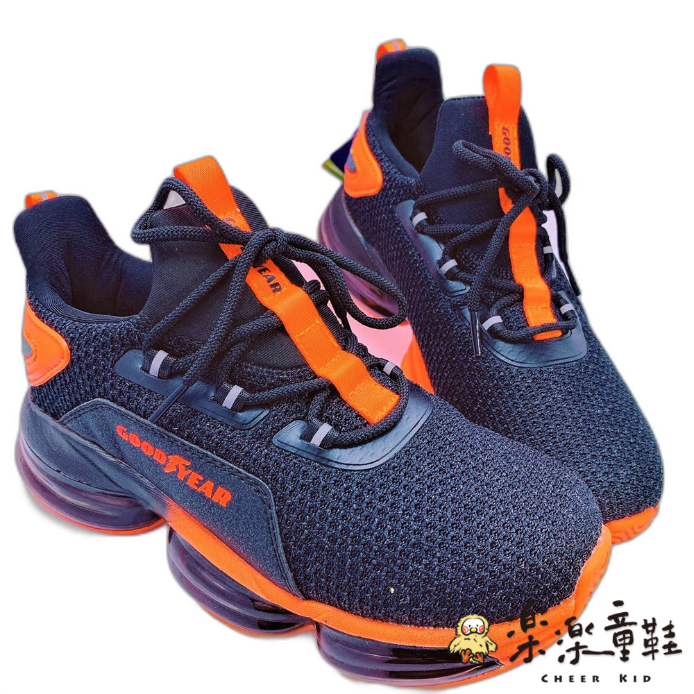 G002-1-GOODYEAR大氣墊緩震運動鞋-黑橘