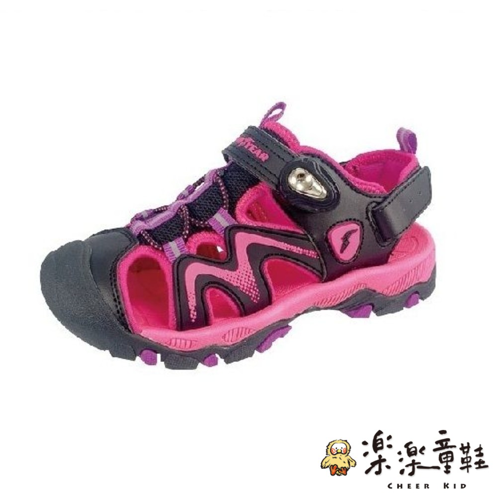 G009-1-GOODYEAR大童涼鞋-黑粉