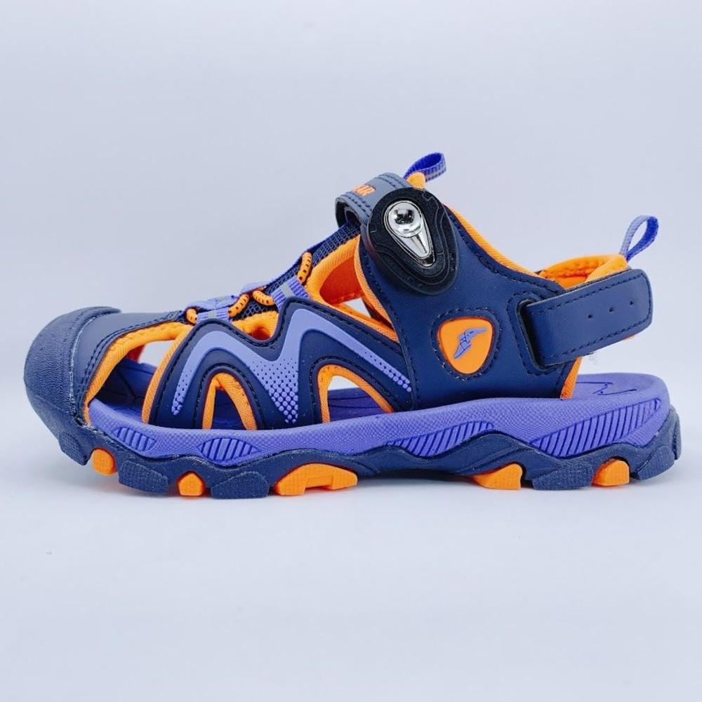 G009-2-GOODYEAR大童涼鞋-藍橘