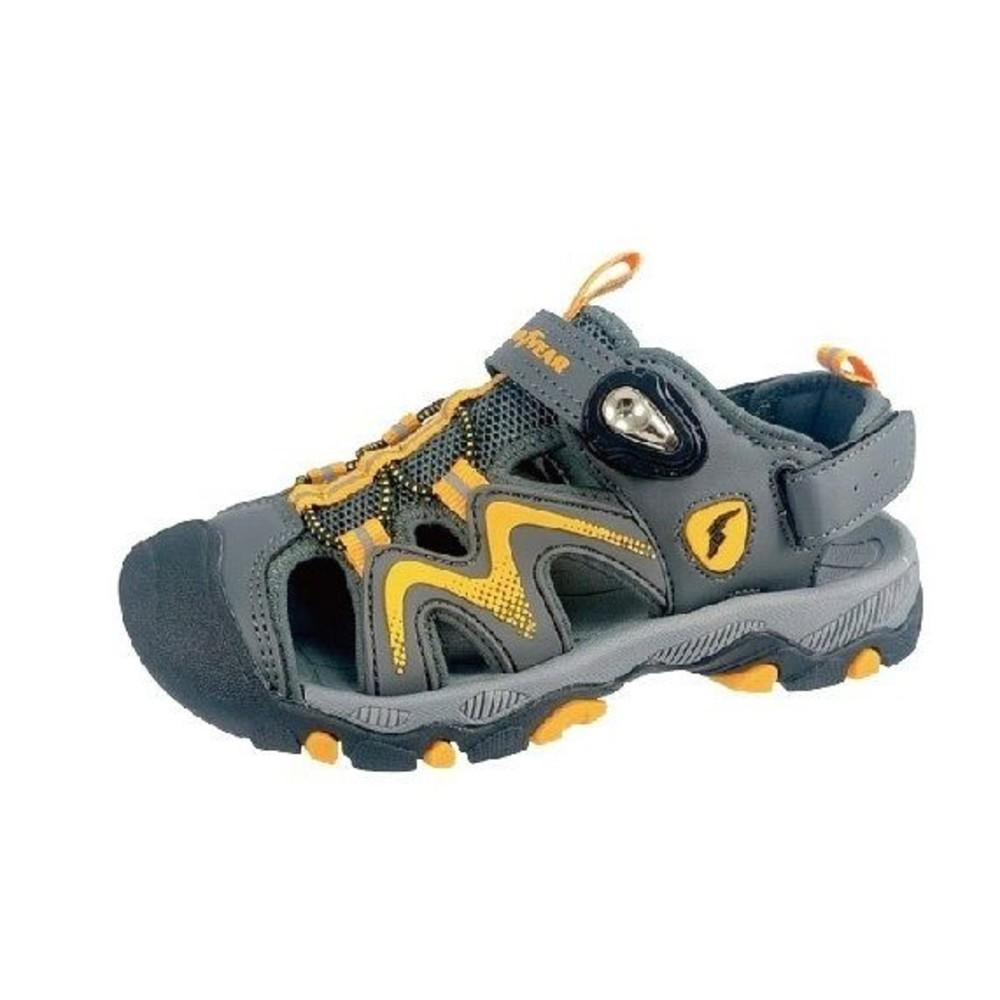 G009-3-GOODYEAR大童涼鞋-灰黃