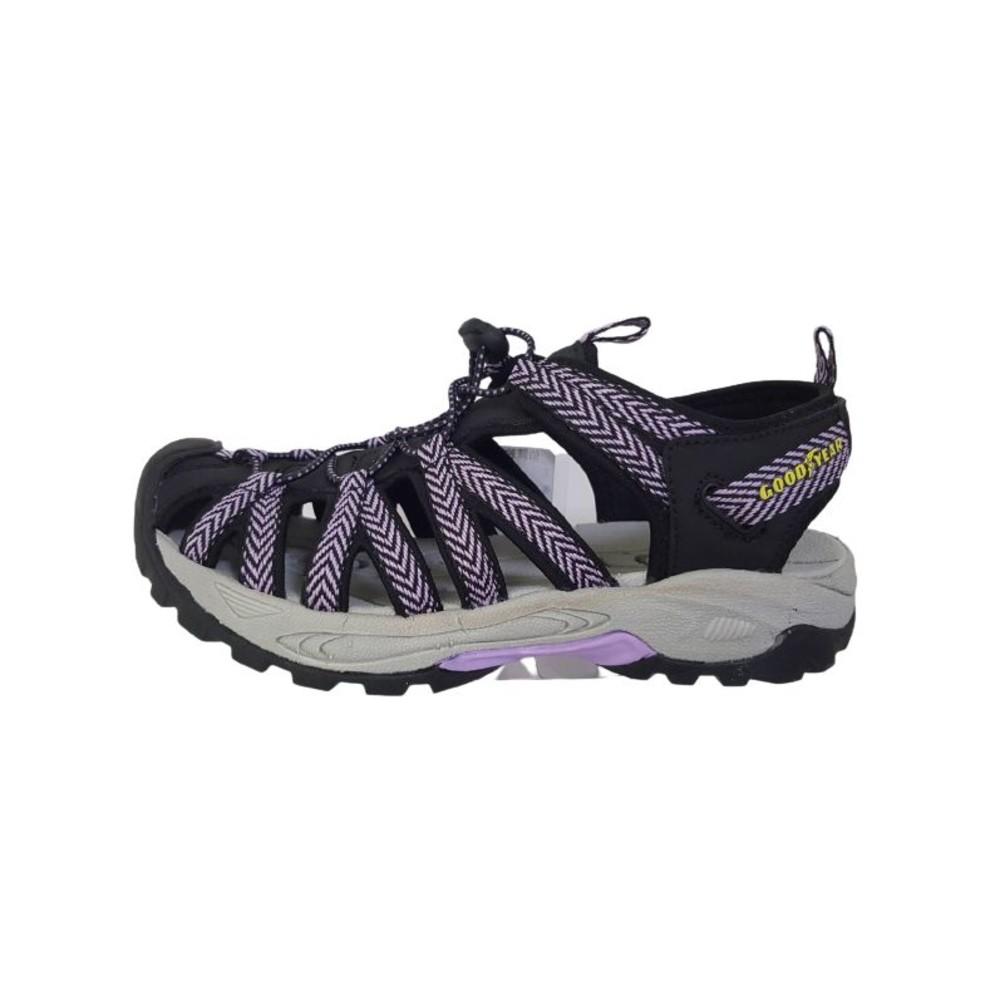 童鞋 GOODYEAR女款水陸護趾涼鞋-紫色