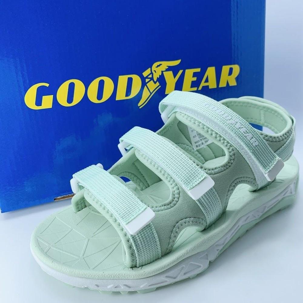 童鞋 GOODYEAR女款彈力運動涼鞋-綠色
