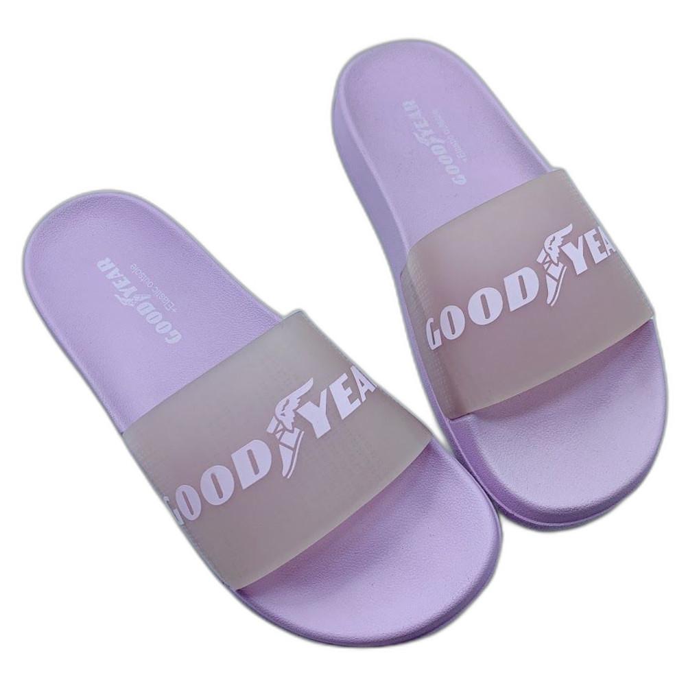 童鞋 GOODYEAR果凍Q彈拖鞋-紫