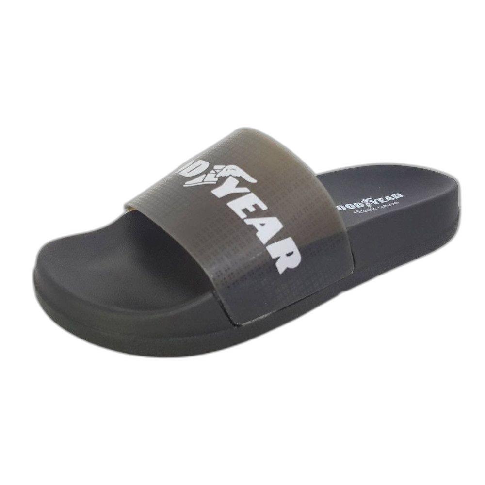 GOODYEAR果凍Q彈拖鞋-黑