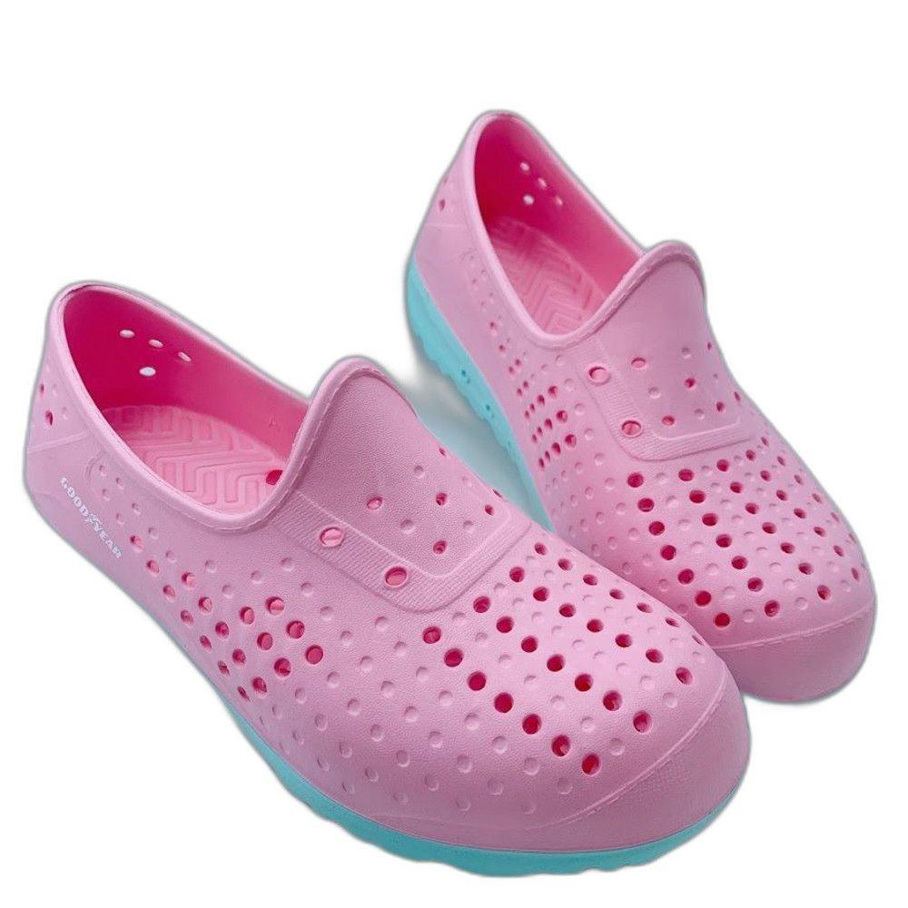 GOODYEAR 童款輕量洞洞鞋-紫色