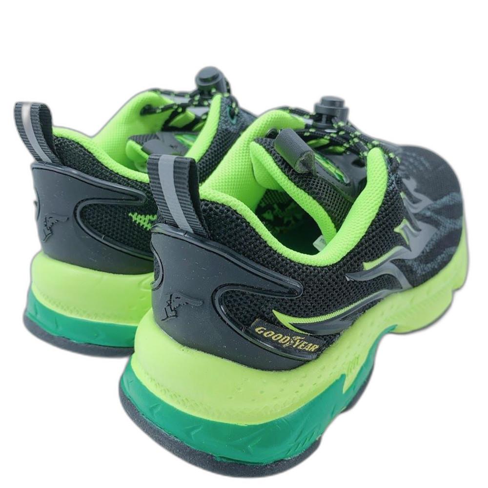 GOODYEAR 童款輕量緩震運動鞋-黑綠