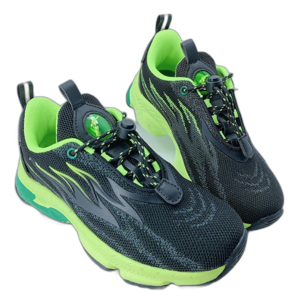 G018 - GOODYEAR 童款輕量緩震運動鞋-黑綠