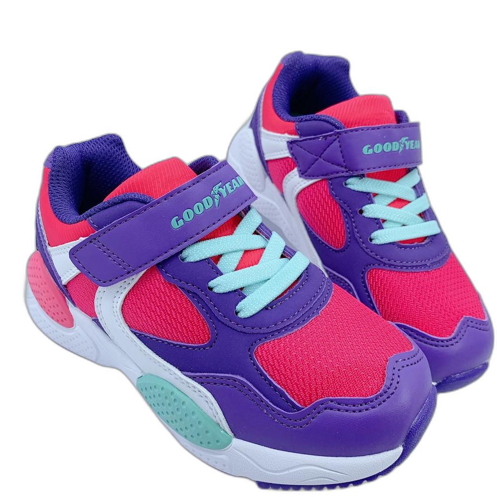 G020-GOODYEAR 童款輕量緩震運動鞋-粉紫