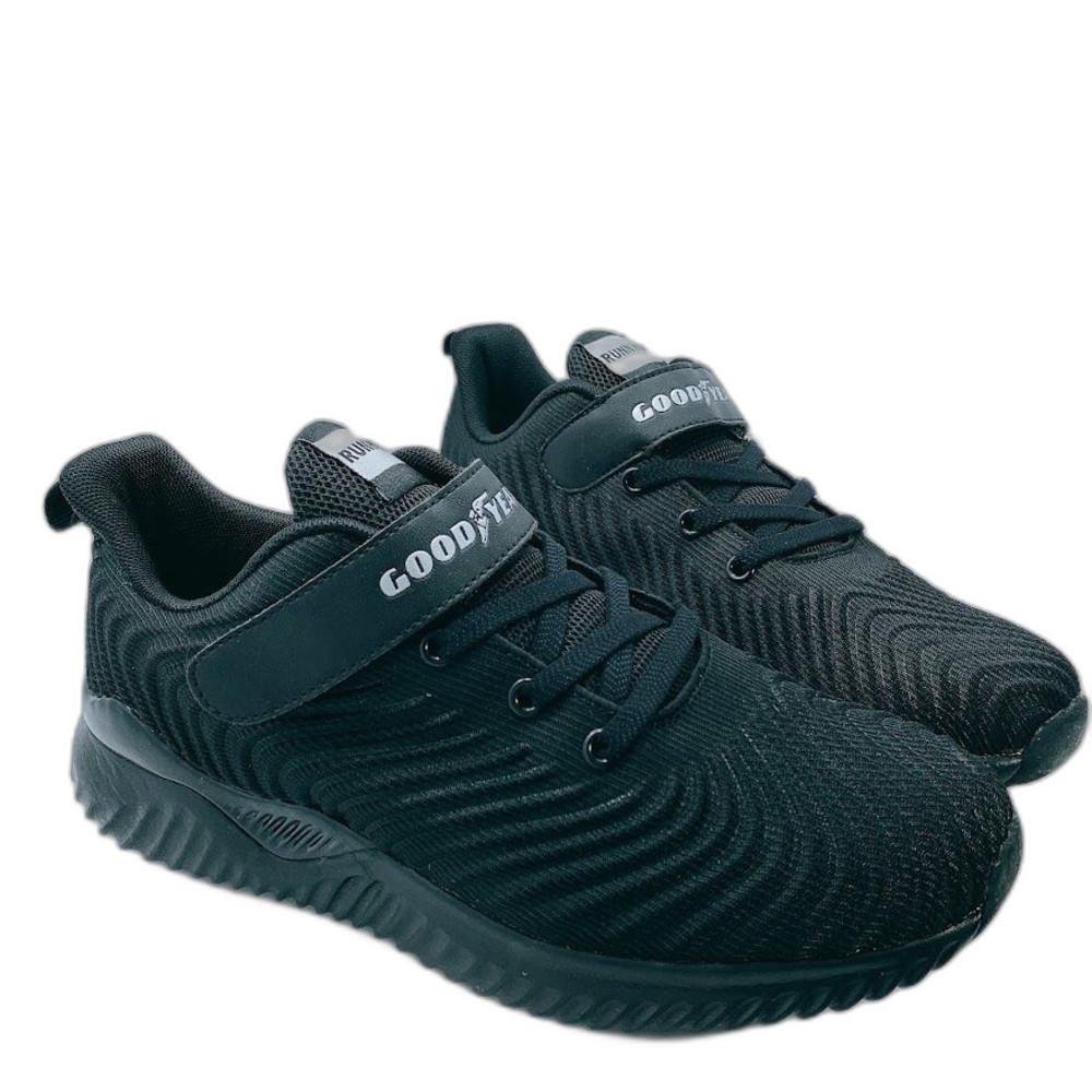 G021-GOODYEAR 童款輕量緩震運動鞋-黑