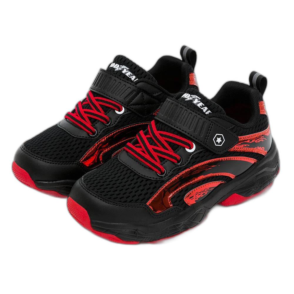 G024 - GOODYEAR輕量緩震運動鞋-黑紅