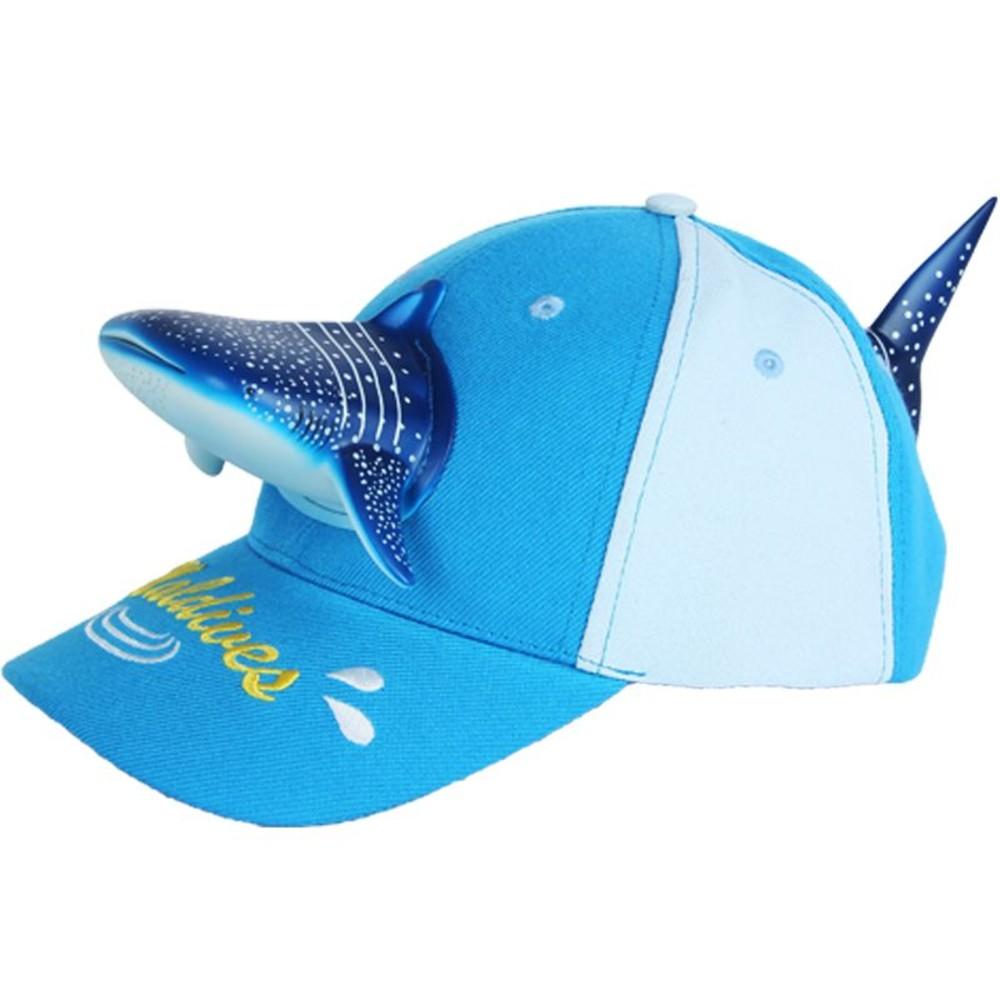 H017-立體鯊魚親子帽