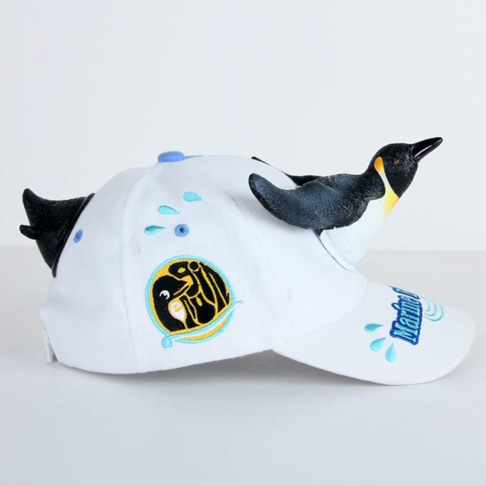 立體企鵝親子帽