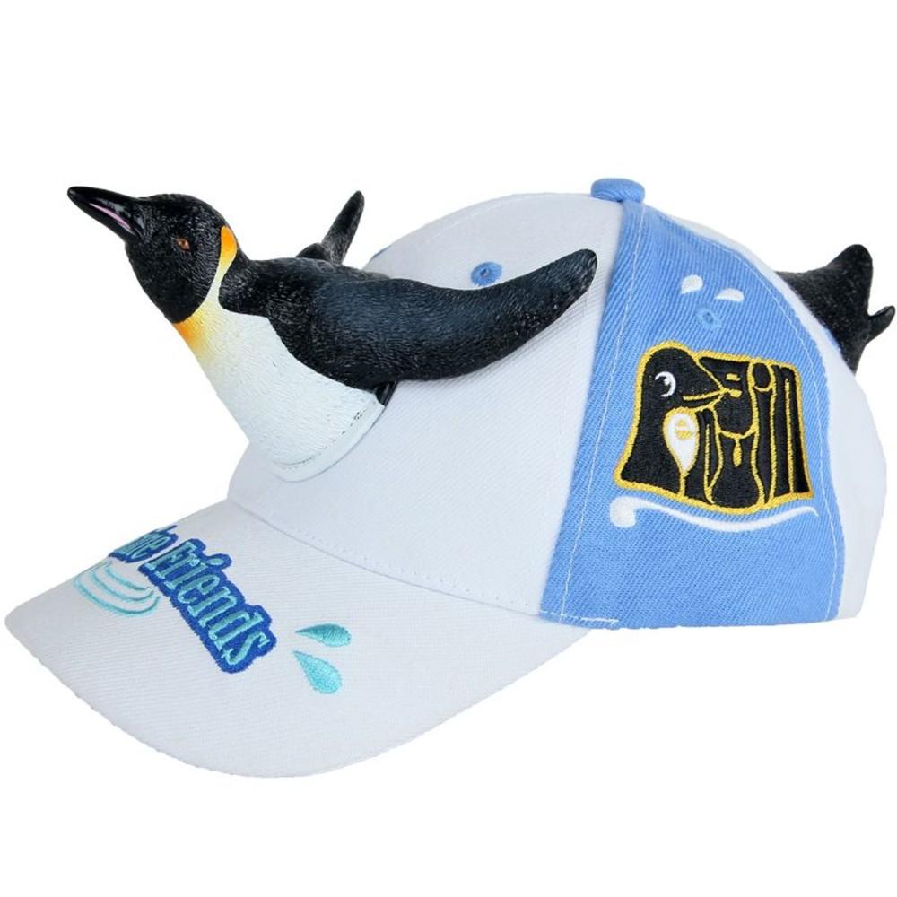 H018-立體企鵝親子帽