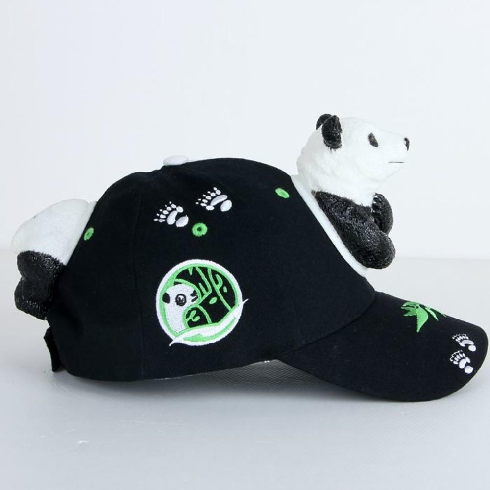 立體熊貓熊親子帽