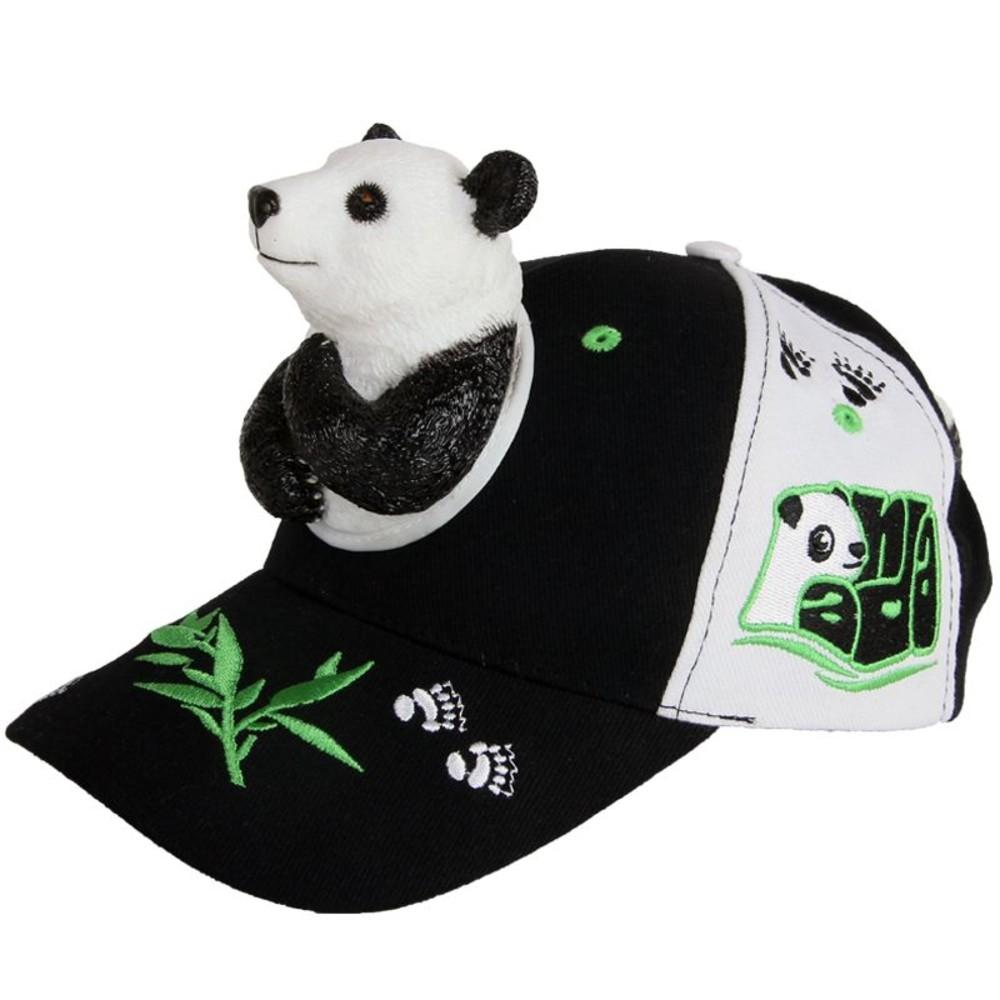 H019-立體熊貓熊親子帽