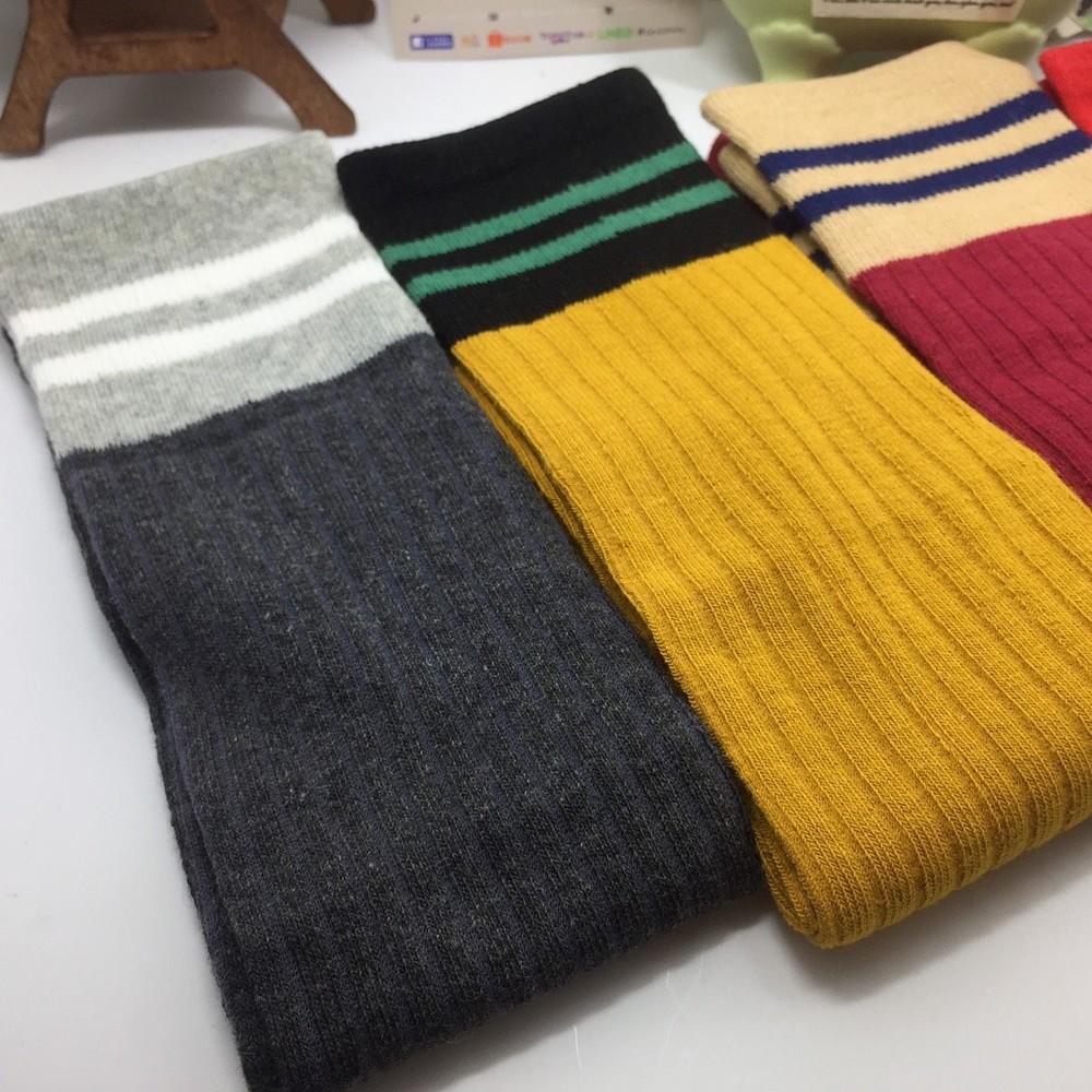 素面針織長筒襪