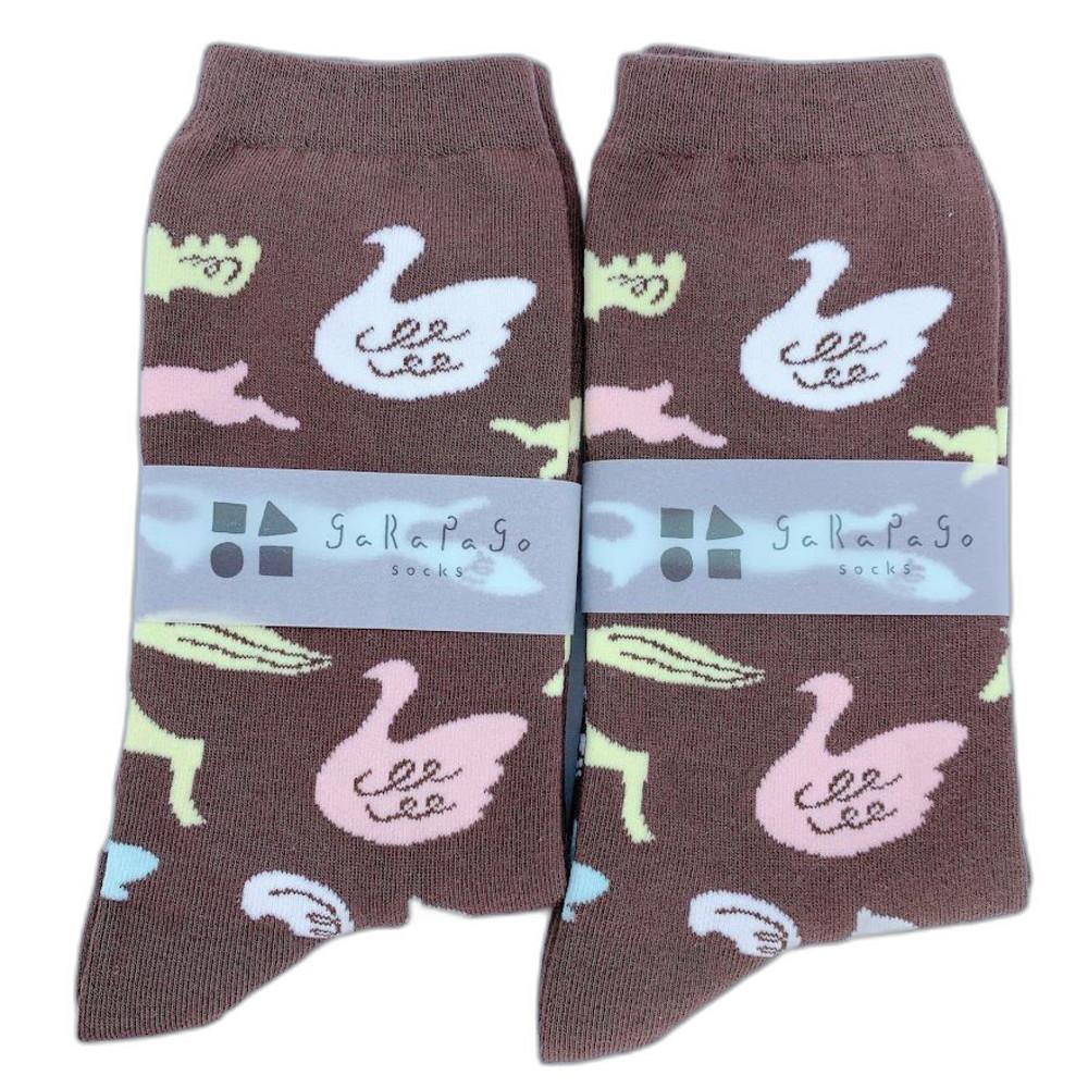 J021-3-【garapago socks】日本設計台灣製長襪-動物圖案
