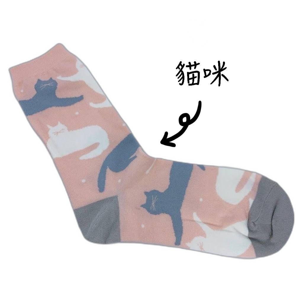 【garapago socks】日本設計台灣製長襪-貓咪圖案