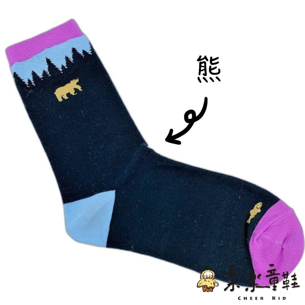 【garapago socks】日本設計台灣製長襪-山脈圖案