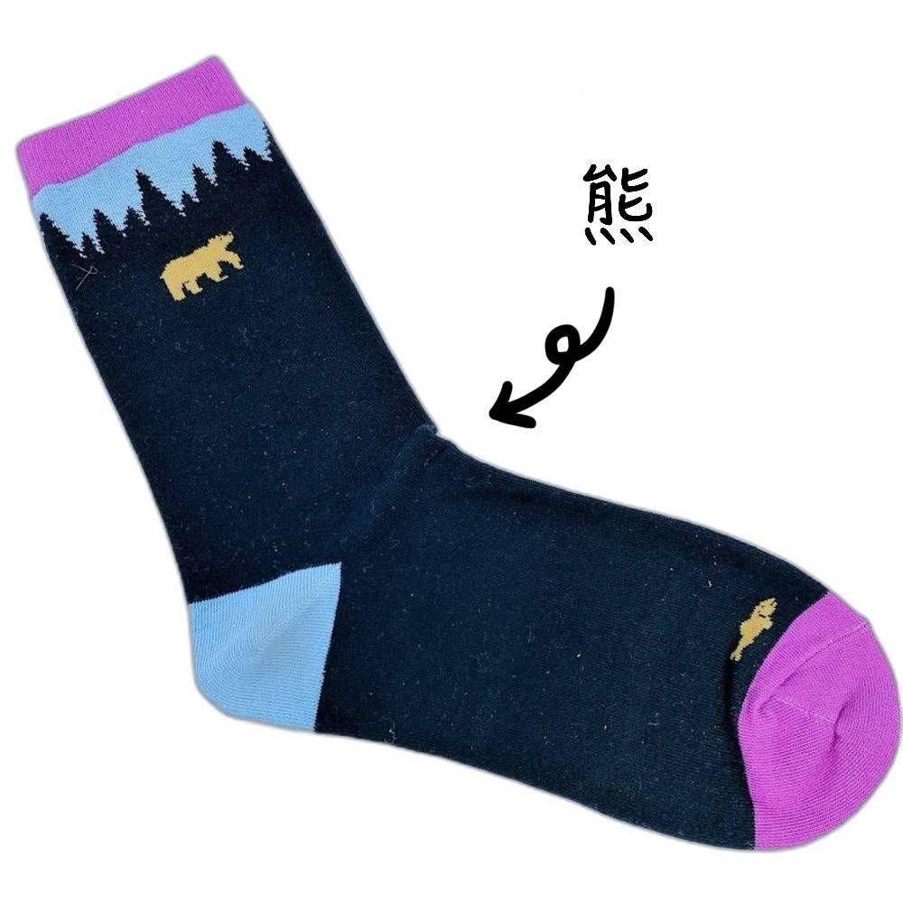 【garapago socks】日本設計台灣製長襪-熊圖案