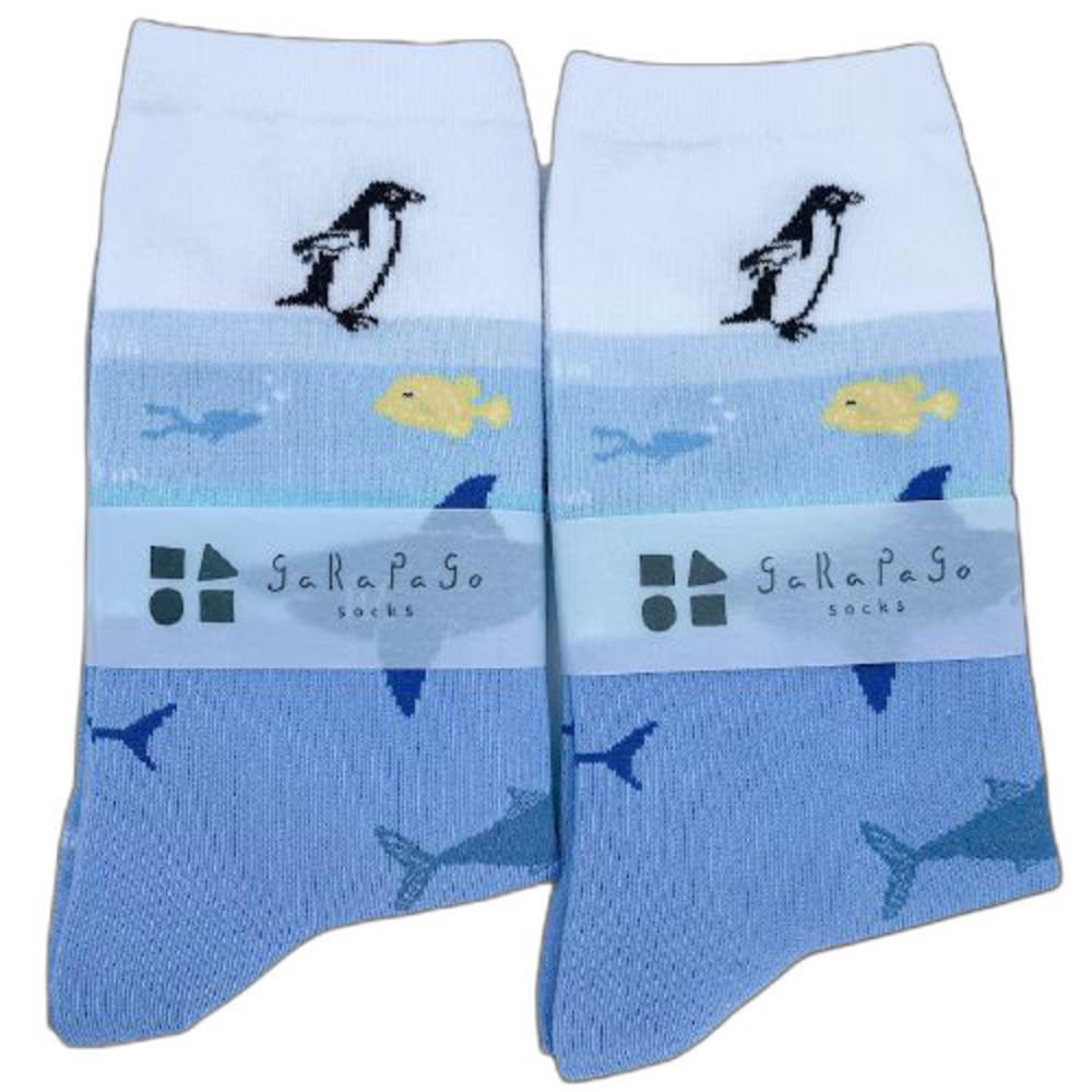 J021-7-【garapago socks】日本設計台灣製長襪-海洋生物