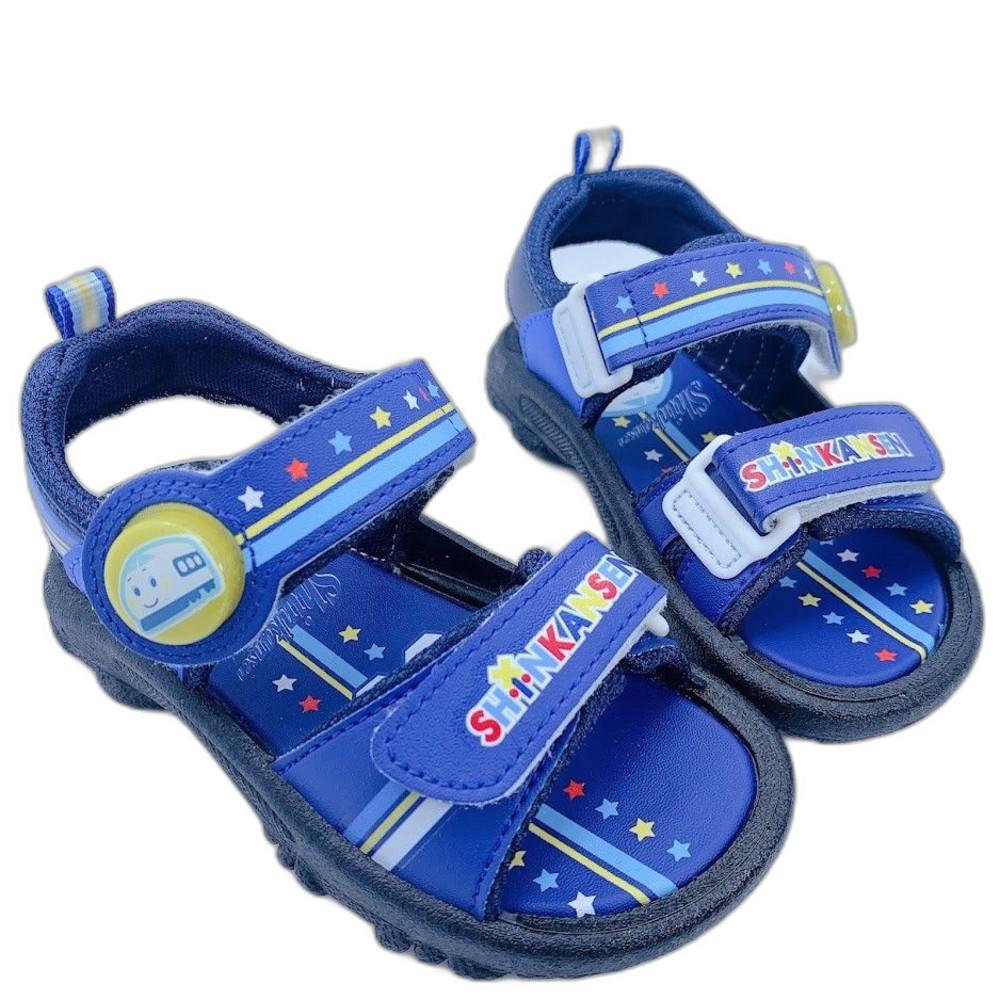 K005-1 - 台灣製三麗鷗新幹線電燈涼鞋-深藍