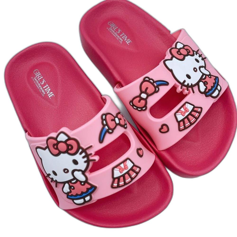 K008-1-台灣製三麗鷗經典人氣明星拖鞋-Hello Kitty